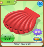 EW Giant Sea Shell red