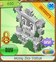 Mossy Zios Statue 1