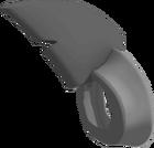 Silver shark fin transparent