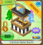 Carnival Game Booth Black