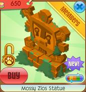 Mossy Zios Statue (orange)
