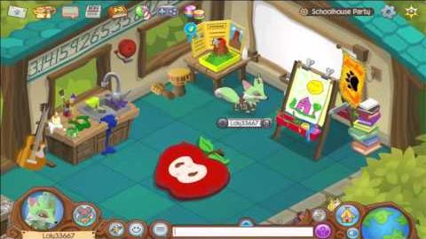 Having fun at Schoolhouse Party! ANIMAL JAM-1534725085