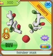 White Reindeer Mask