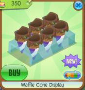 Waffle Cone Display purple