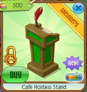 Cafe hostess stand 2
