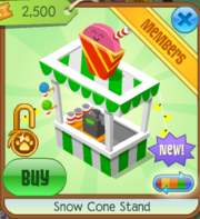 Snow Cone Stand Green