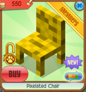 Pixelated Chair yellow front