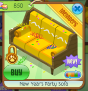 New Year's Party Sofa 1