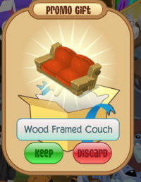 Wood Framed Couch