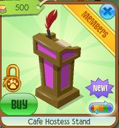 Cafe hostess stand 4
