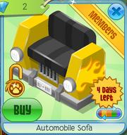 Automobile Sofa Yellow