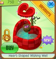 Heart-Shaped Wishing Well