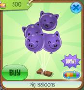 PigBalloons Purple(4)
