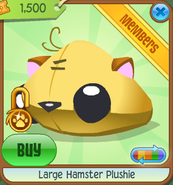 Large-Hamster-Plushie Yellow Shop