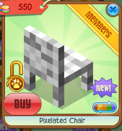 Pixelated Chair white back