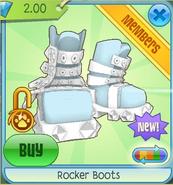 White Rocker Boots
