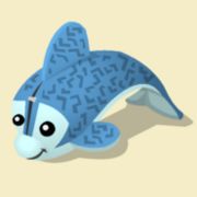 Item Exclusive Dolphin Plushie blue