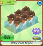 Waffle Cone Display orange