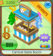 Carnival Game Booth Blue