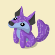 Item Exclusive Coyote Plushie purple