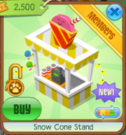 Snow Cone Stand Yellow