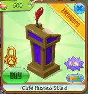 Cafe hostess stand 7