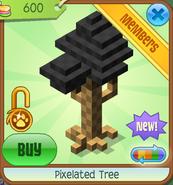 Shop Pixelated-Tree Black