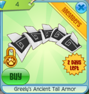 Greely's Ancient Tail Armor