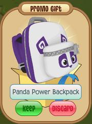 Panda power backpack gift