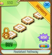 Pixelated pathway