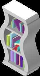 Wavy Bookshelf White
