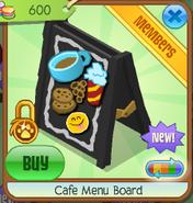Cafe menu board 5