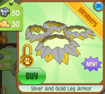 Silver And Gold Leg Armor
