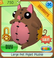 Summer-Carnival-Shop Large-Pet-Piglet-Plushie Brown