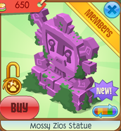 Mossy Zios Statue (pink)