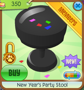 New-Years-Shop New-Years-Party-Stool Black
