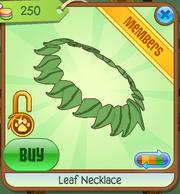 Shop Leaf-Necklace Green