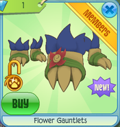 Diamond-Shop Flower-Gauntlets