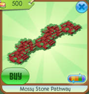 Mossy Stone Pathway red