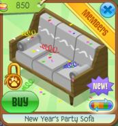 NYS New Year's Party Sofa grey