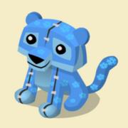 Item Exclusive Tiger Plushie blue-flower