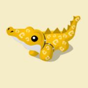 Item Exclusive Crocodile Plushie yellow