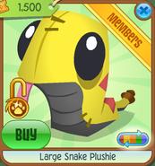 Large-Snake-Plushie Yellow Shop