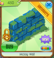 Mossy Wall blue