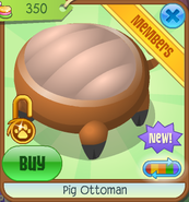 Shop Pig-Ottoman Orange