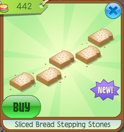 Sliced bread stepping stones