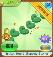 Broken Heart Step Stones Green