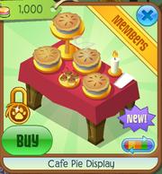 Cafe pie display