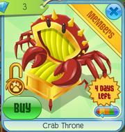 Crab Throne Yellow