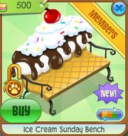 Ice Cream Sunday Bench white